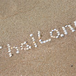 Thailand written on the sand — Stock Photo