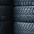 Car tires - Stock Photo