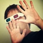 3d gözlük ile adam — Stok fotoğraf