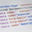 HTML code - Stockfoto