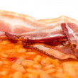 Beans with bacon — Stock Photo
