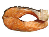 A piece of smoked trout. Isolated — Stock Photo