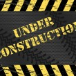 Grunge Under Construction Website Background - Stock Vector