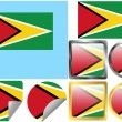 Royalty-Free Stock Vector Image: Flag Set Guyana
