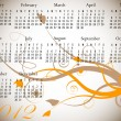 2012 Floral Calendar in Fall Colors — Vector de stock