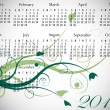 2012 Floral Calendar in Spring Colors — Stockvektor