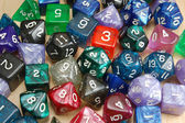 Set of Role Playing Dice — Stock Photo
