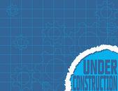 Under Construction Blueprint — Stock Vector
