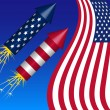 Fourth of July Background — Imagen vectorial