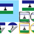 Flag Set Lesotho — Stock Vector