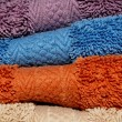Background Made up of Wash Cloths or Towels — Stock Photo