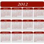 2012 年カレンダー — ストックベクタ #6251859