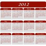 2012 kalender — Stockvector