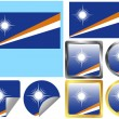 Flag Set Marshall Islands — Stock Vector