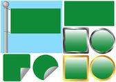 Ustawiona flaga libii — Wektor stockowy