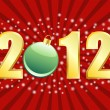 2012 New Years or Christmas Background — Imagen vectorial
