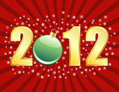 2012 New Years or Christmas Background — Stock Vector