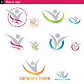 Logotipo de fitness — Vector de stock