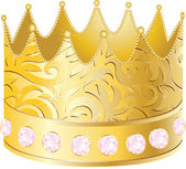 Gold crown. — Stock Vector