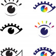 Icons of eyes. — Image vectorielle