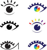 Icons of eyes. — Stock Vector