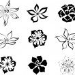Set of flowers. — Imagen vectorial