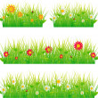 Stock Vector: Summer meadow beautiful.