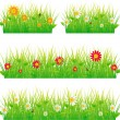 Summer meadow beautiful. - Stock Vector