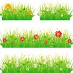 Summer meadow beautiful. — Stock Vector