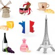 Royalty-Free Stock Vector Image: Symbols of France.