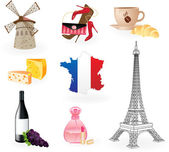 Symbols of France. — Stock Vector