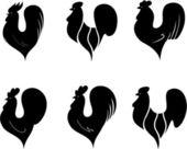 Set of cocks — Stock Vector