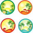 Beach banner. — Stock Vector #6308246