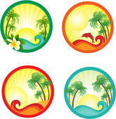 Beach banner. — Stock Vector