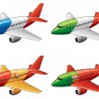 Royalty-Free Stock Vector Image: Airbuses in national flags colors