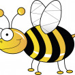 Stock Photo: Yellow bee