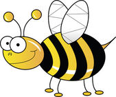 Yellow bee — Stock Photo