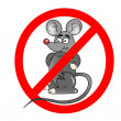 Stock Photo: No rats sign