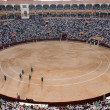 A bullfighting ring in Madrid, Spain - Stock Photo