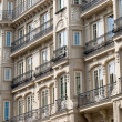 Facade of a building in Madrid - Stock Photo