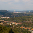 View from Montserrat in spain - Stock Photo