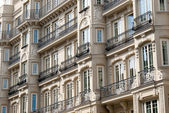 Facade of a building in Madrid — Stock Photo
