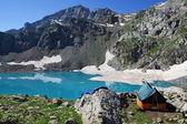 Camp at the lake — Stock Photo
