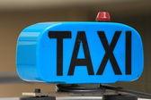 Taxi blue — Stock Photo