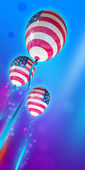 July 4 Balloons in the national colors of the USA flag — Stock Photo