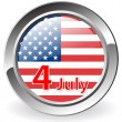 Royalty-Free Stock Photo: Medal 4 July USA