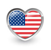 US flag heart — Stock Photo