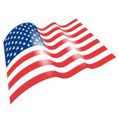 Flag of the United States, fluttered in the wind. — Stock Photo