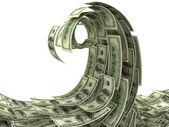 Money wave isolated on white — Stock Photo
