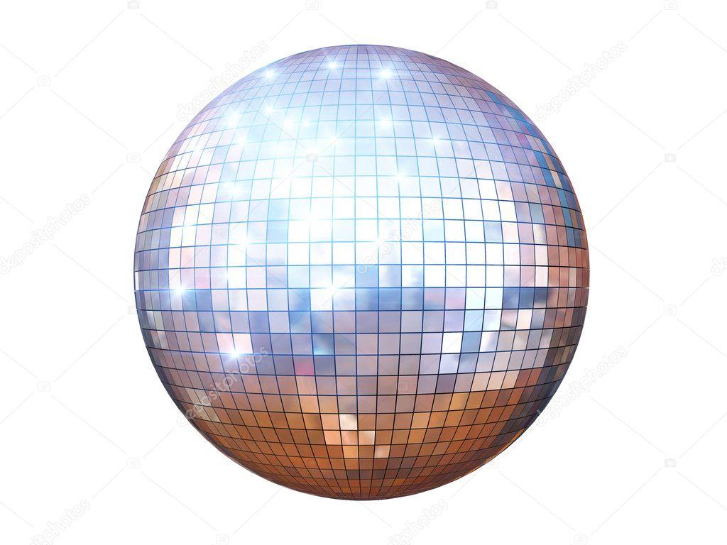 Disco ball isolated stock photo digiart 6664416 - Bola de discoteca ...
